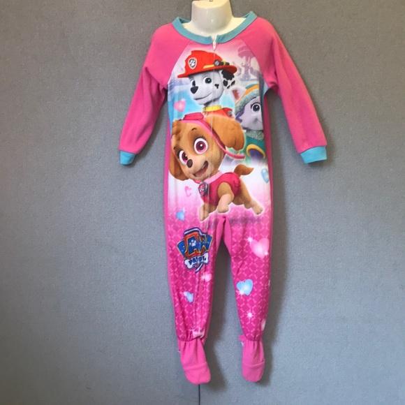 Paw Patrol Pink Footie Pajamas e9b88a52a
